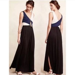 Anthropologie Maeve Elysian color block maxi dress